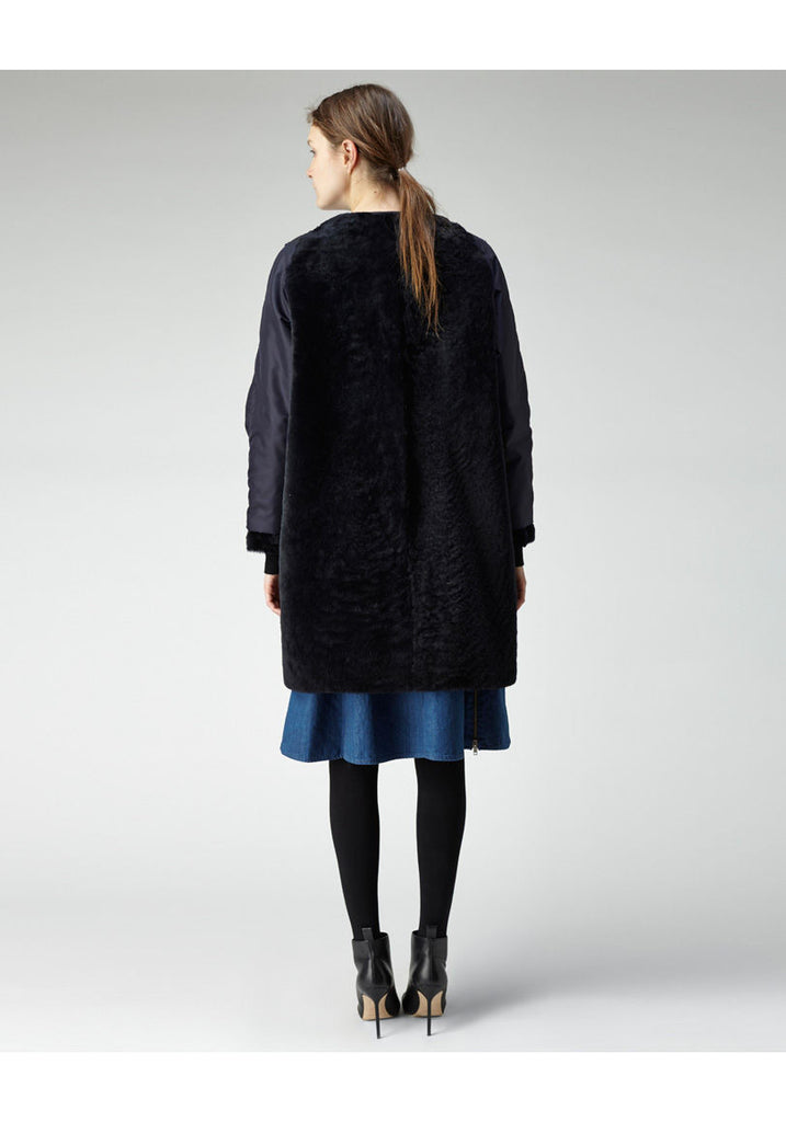 Shearling Opera Coat