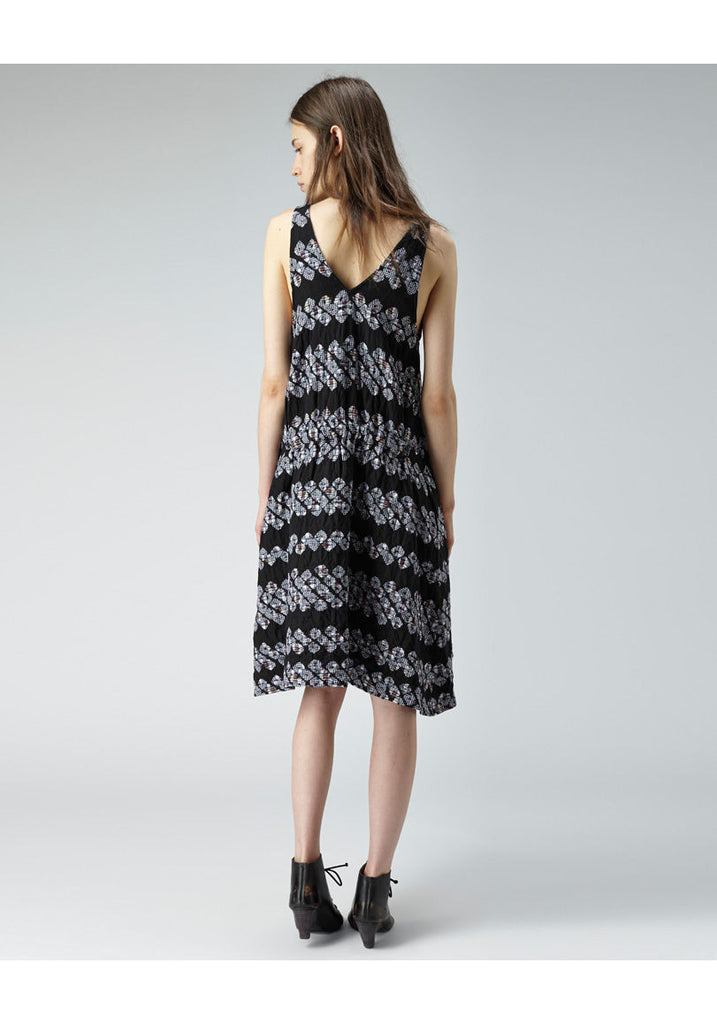 Shibori Plaid Dress