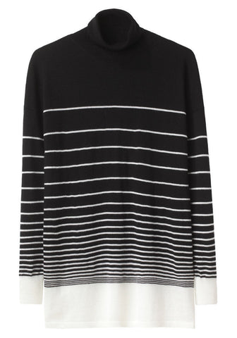 Striped Turtleneck