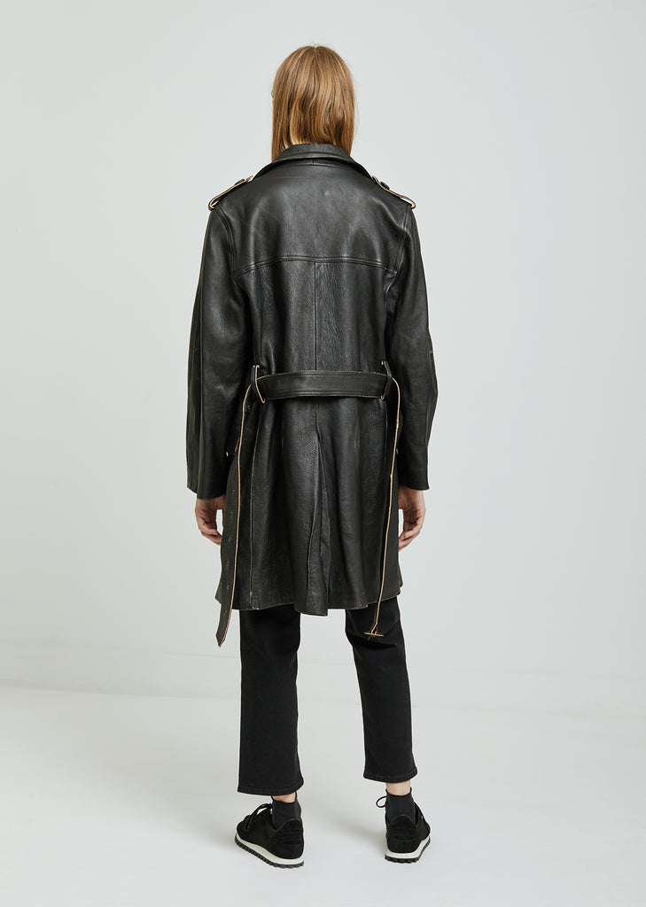 Military Leather Coat