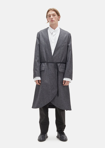 Cotton Tweed Overcoat