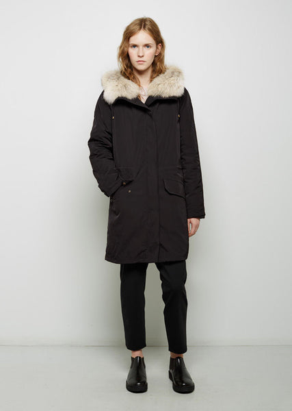 Army by Yves Salomon Coyote Fur-Lined Weatherproof Parka La Garconne