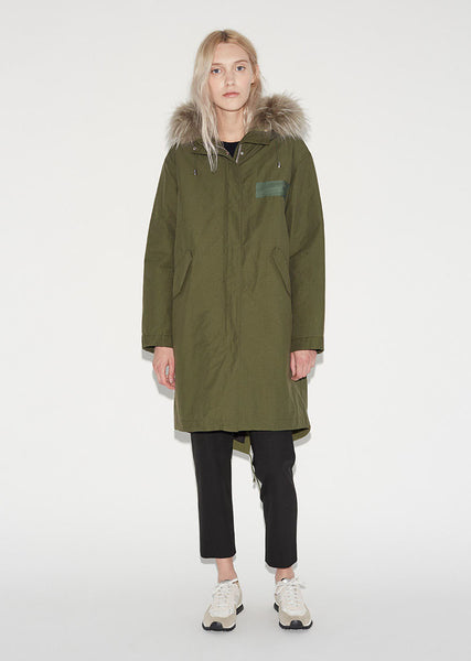 Army by Yves Salomon Technical Cotton Fishtail Parka La Garconne