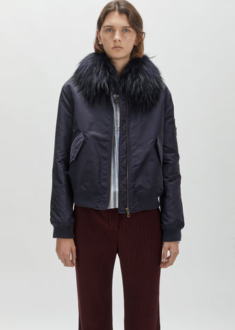 Rabbit Fur Collar Bomber