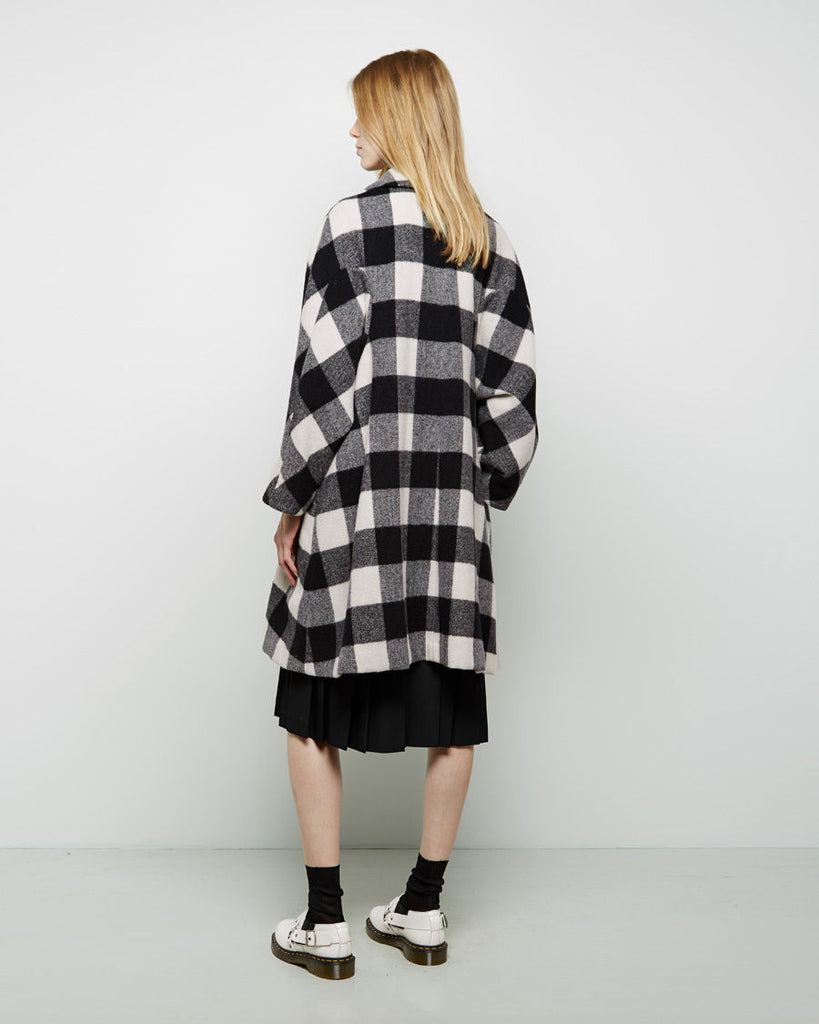 Buffalo Check Wool Coat