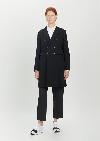 Wool Double Breasted Blazer Coat