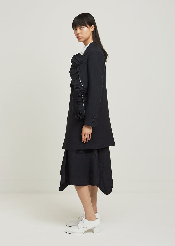 Double Cloth Twill Blazer Coat