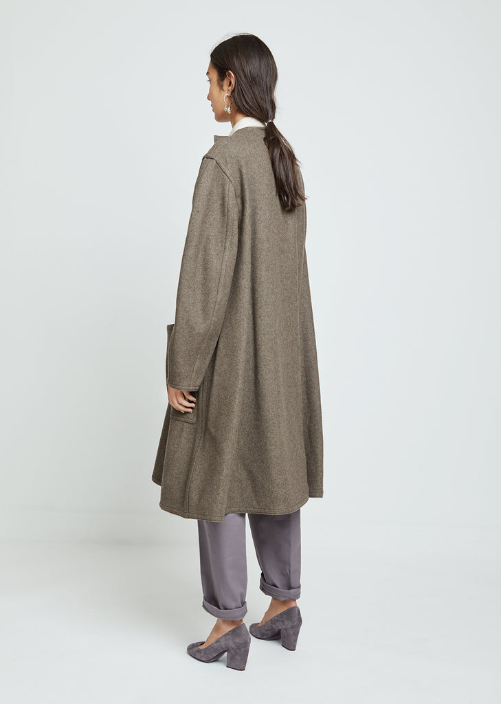Felted Wool Wrapover Coat