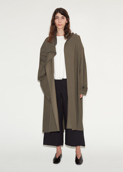 Lemaire Cotton Highneck Overcoat La Garconne