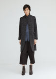Linen Wool Checked Coat