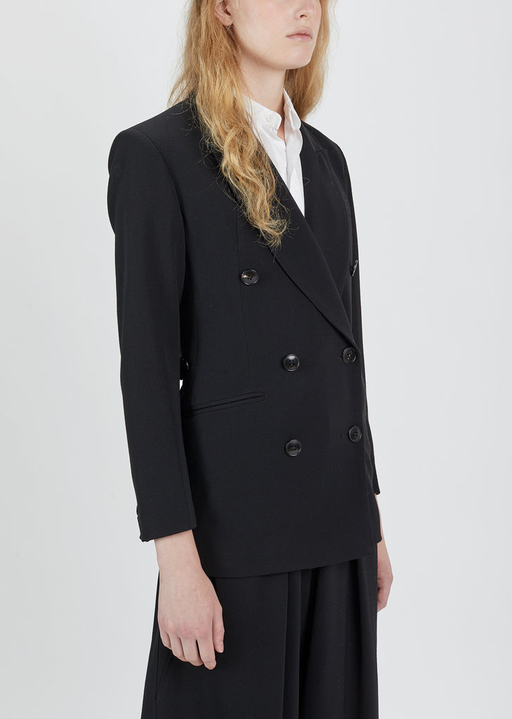 Gabardine Double Breasted Blazer