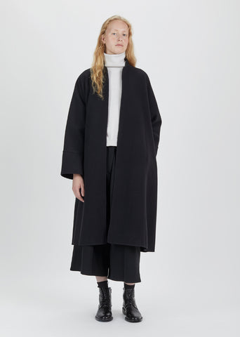 Felted Double Face Long Kimono Coat