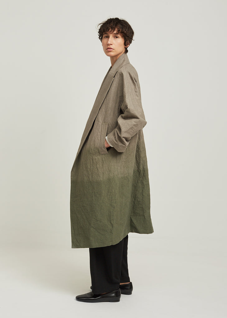 Hand Dyed Oversized Open Front Coat