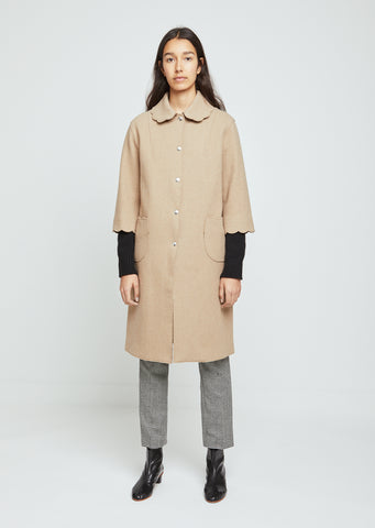 Scallop Collar Coat