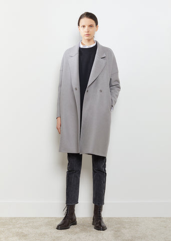 Oversize Collar Double Breasted Coat