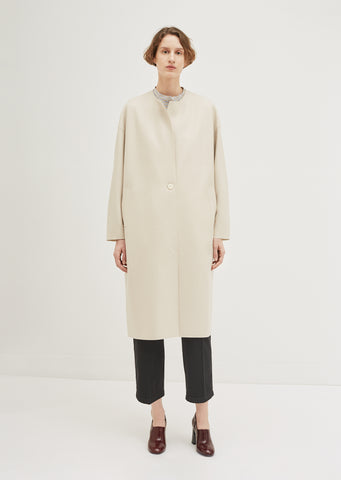 Light Wool Oversized Long Coat