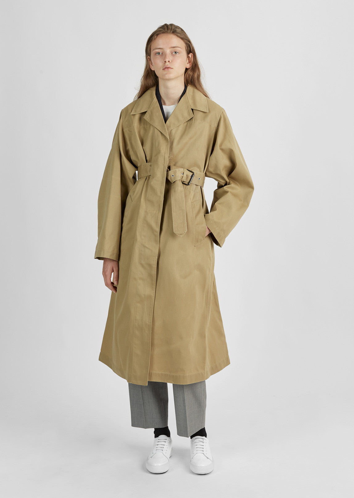 0904bdb7f34 Fawn Cotton Trench Coat by Isabel Marant- La Garçonne