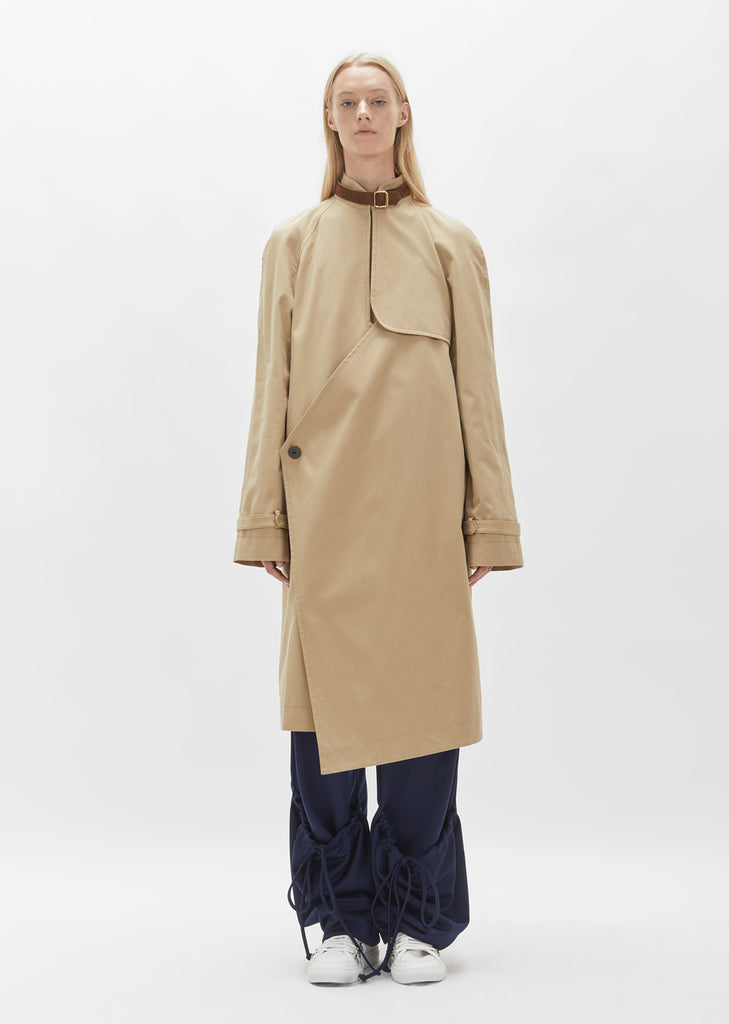 Asymmetric Trench Coat