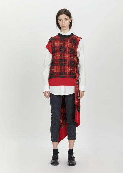 Wool Mohair Tartan Check Sweater