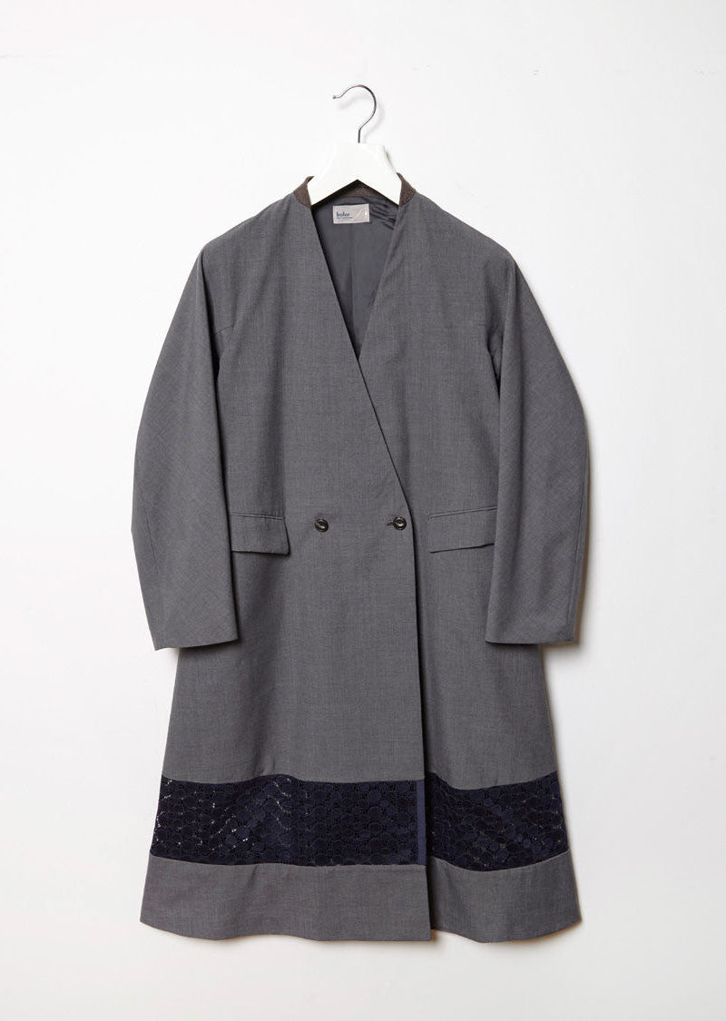 Fabric Blocked Coat