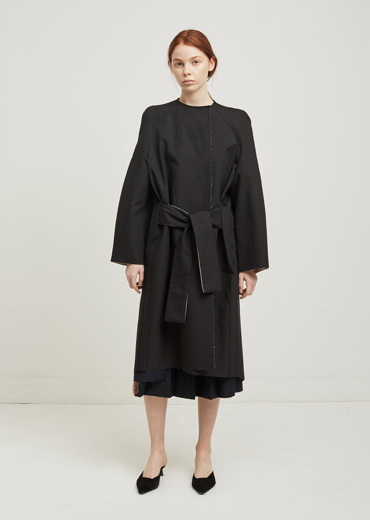 Couture Mac Tie Front Coat
