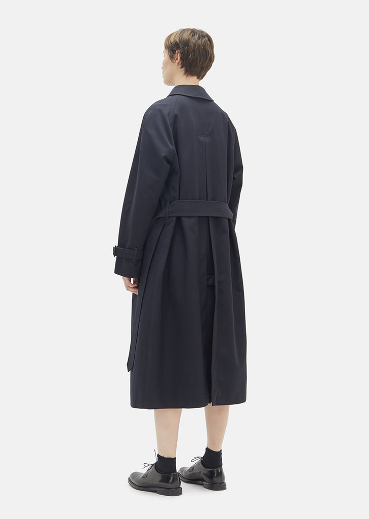 Wool Cotton Gabardine Coat