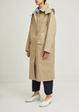 Hooded Cotton Trench Coat