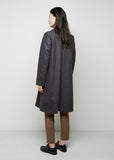 Wool Zip Front Coat