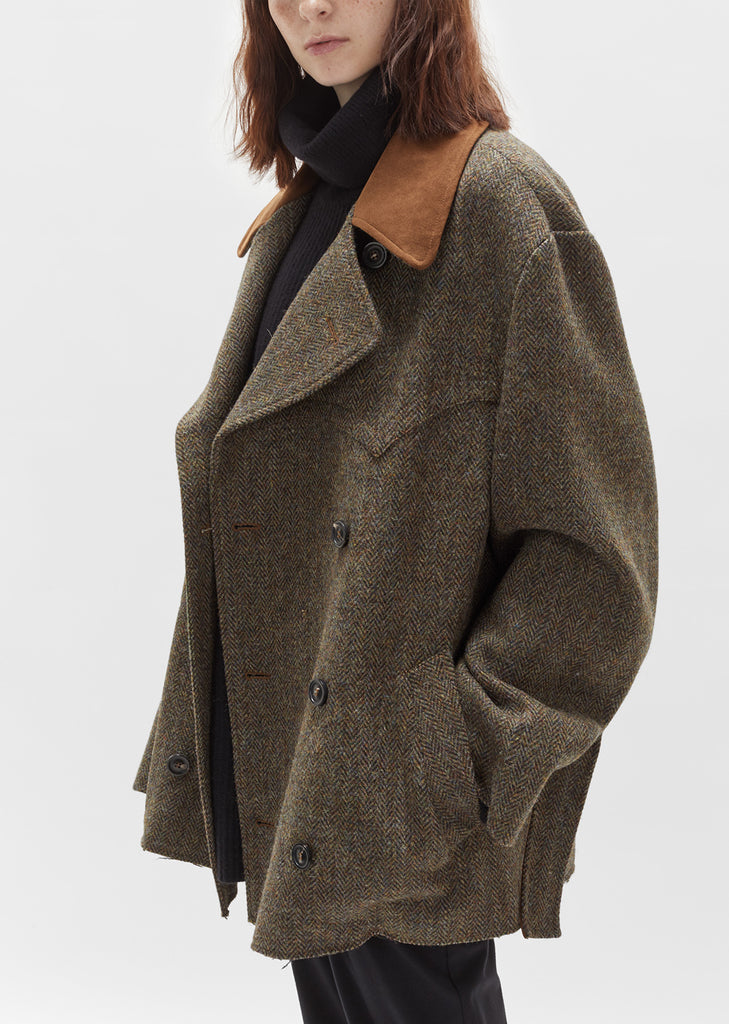 Herringbone Felt Belted Jacket