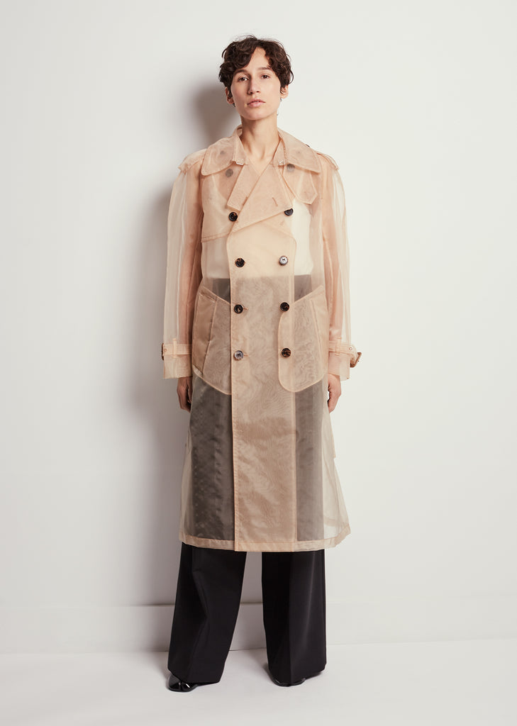 Organza Trench Coat