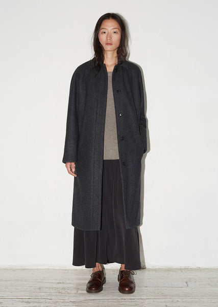 Wool Raglan Coat