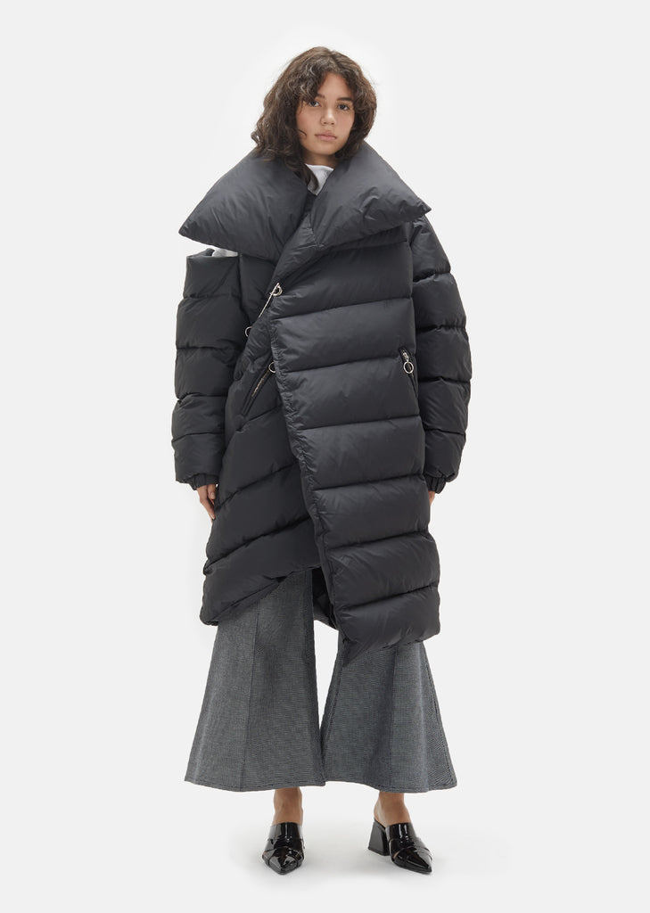 Waterproof Asymmetric Long Puffer Coat
