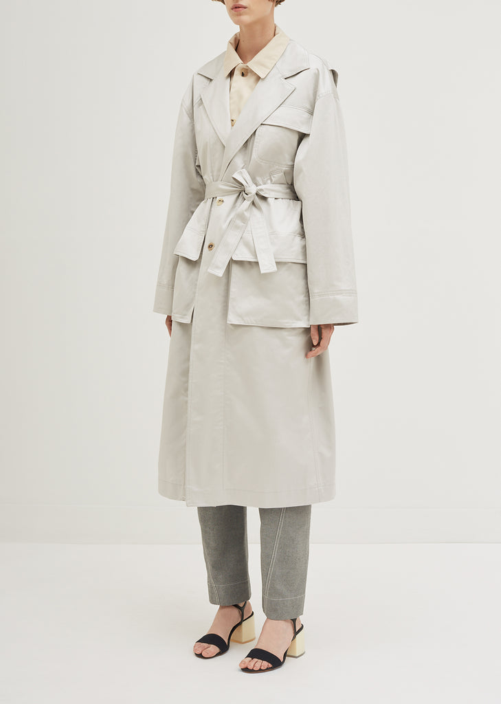 Satine Cotton Gabardine Trench Coat