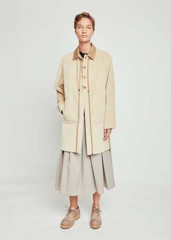 Janiky Corduroy Trench Coat