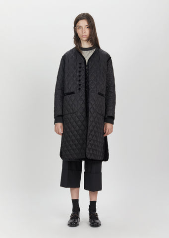 Quilted Cupra Long Coat