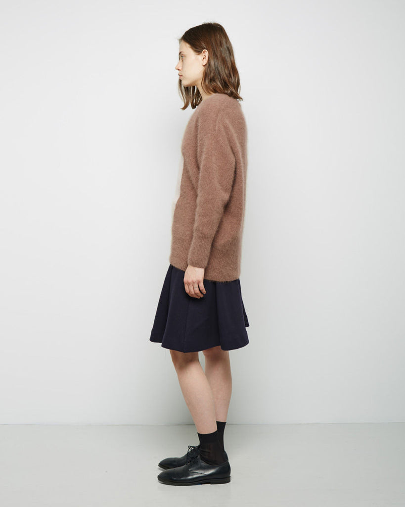 Colorblock Mohair Pullover