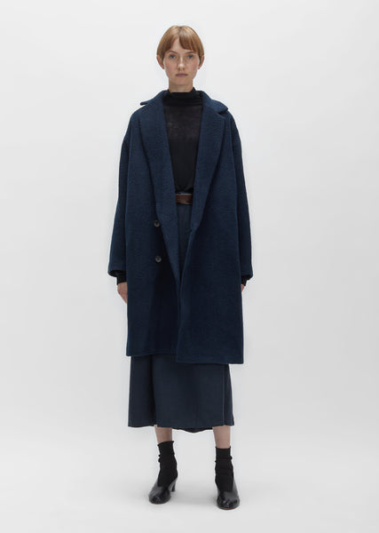 Angora Wool Cocoon Coat