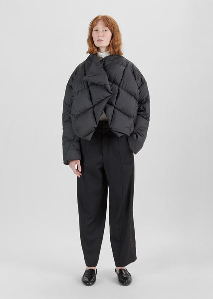 Cropped Quilted Puffer Jacket