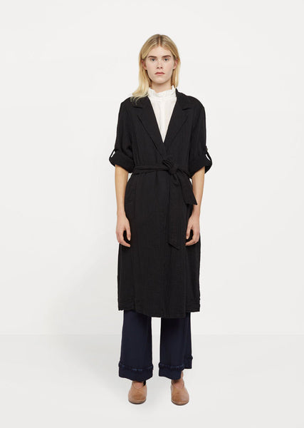 Raquel Allegra Cotton Gauze Trench Robe La Garconne