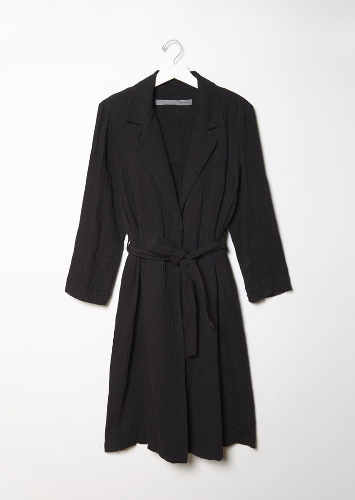 Cotton Gauze Trench Robe