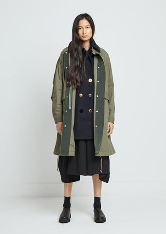 Cotton Nylon Oxford Coat