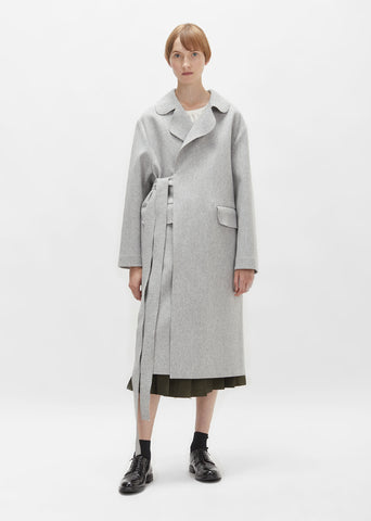 Belted Wool Overcoat