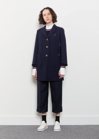 Double-Faced Melton Wool Coat