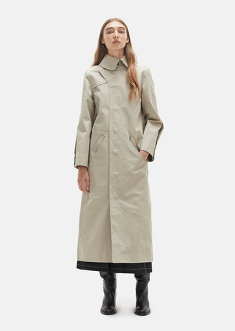 Ovular Cutout Trench Coat