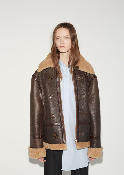 Vetements Oversized Shearling Jacket La Garconne