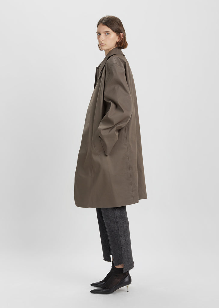 X Mackintosh Open Back Car Coat