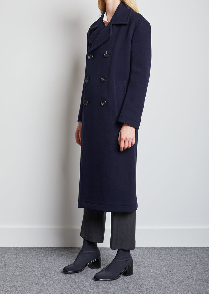 Lambs Wool Double Breasted Coat