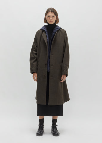 Flannel Coat With Hooded Liner