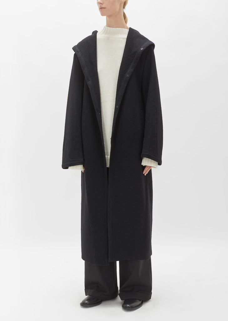 Wool Hooded Big Coat