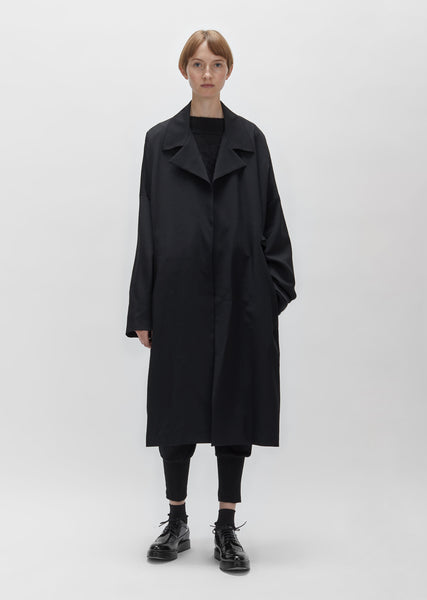 Wool Gabardine Wrap Coat